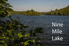 Nine Mile Lake.  Lake County Road 7 in the Superior National Forest.