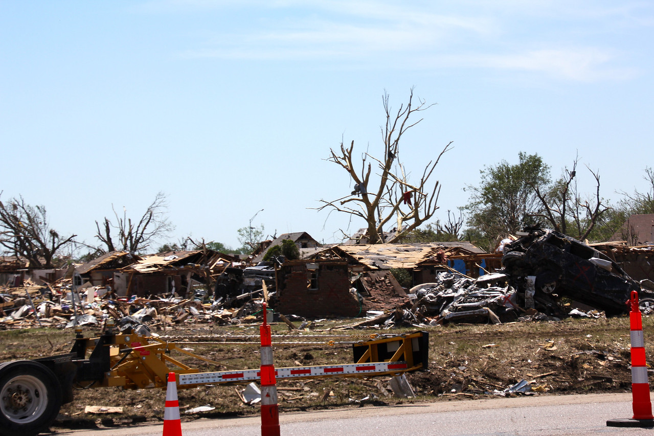 Day 2 took us through Oklahoma City, the site of an F5 tornado on May 20th. I've never seen destruction quite like this and the current estimate is that 24 people lost their lives in this tragedy. - Jay