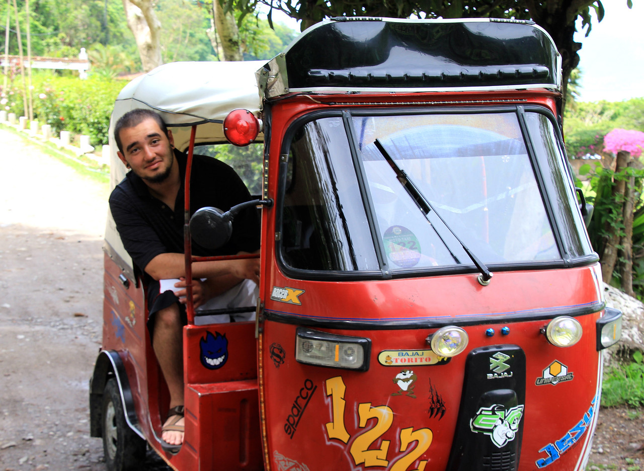This little guy is the Tuk-Tuk we rode to the nature reserve on the outskirts of town. Really cheap, really slow, and really fun. -Conor