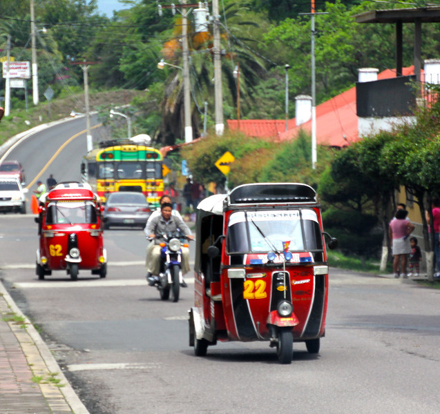 A customary way of getting around is this vehicle called a Tuk-Tuk. -Jay