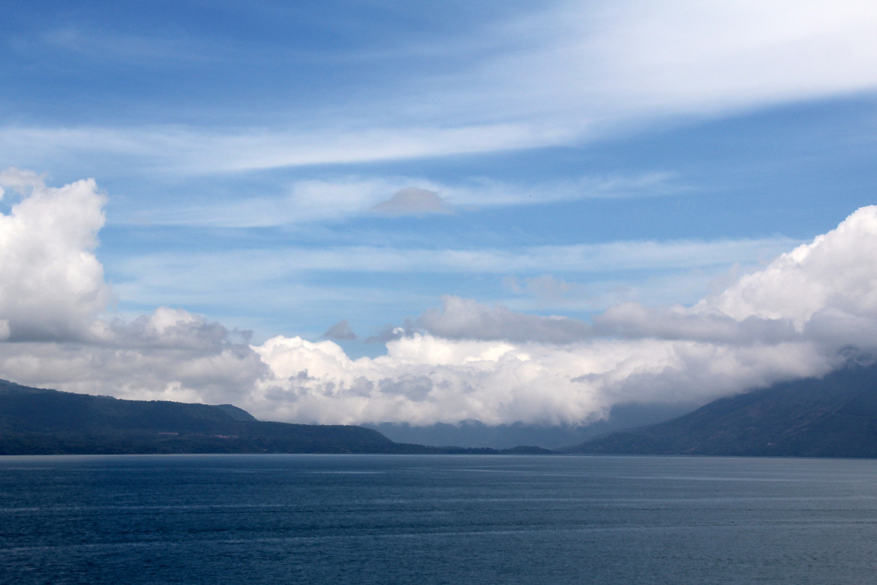 We rolled into Panajachel (about 90 miles north of Guatemala City) which is  located on the beautiful Lake Atitlan. - Jay