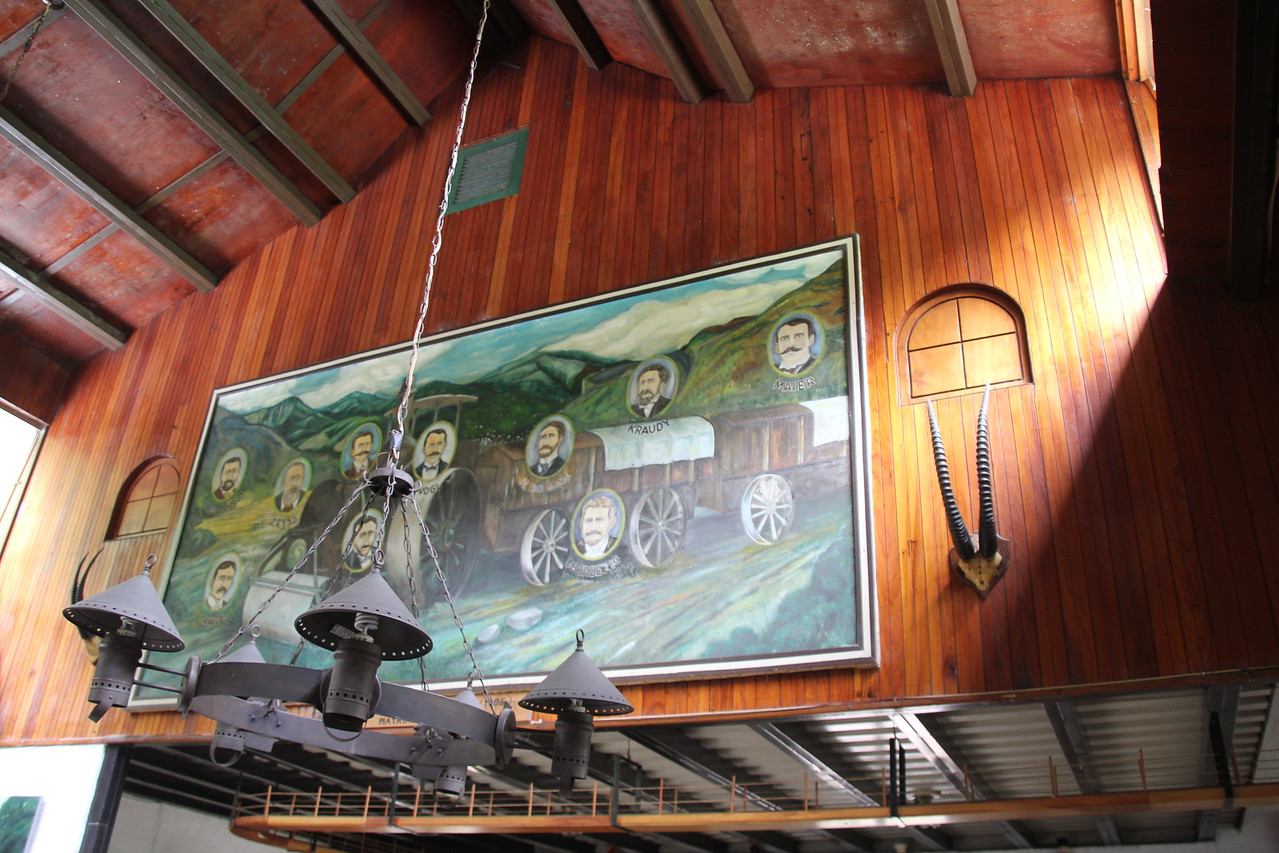 This was the inside of the lodge.  German couple at the turn of the 20th century bought the land and with a trackless train brought all the materials up to this area almost two hundred miles from the capital city of Managua.-Conor