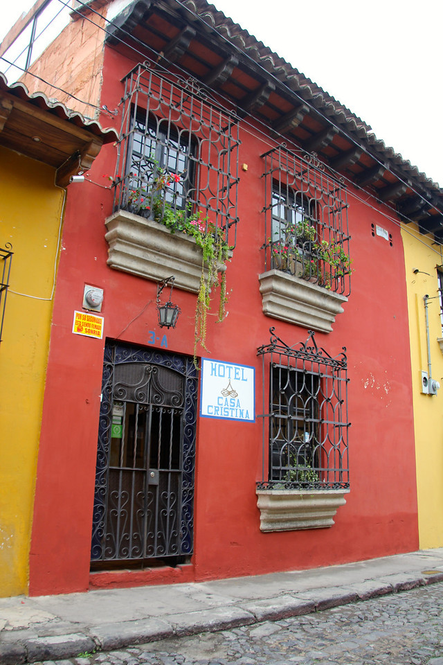 This was our home for the night - the Casa Cristina (recommend by the way). I managed to drop my bike on the sidewalk while trying to unload. - Jay