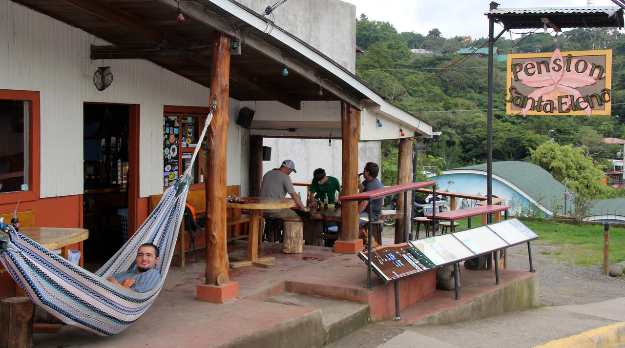 We eventually made it to the Santa Elena Pension which will forever be the chillest hostel/reggae bar in Costa Rica. Big fan of the hammocks, the music, and the flow of amazing story-tellers. -Conor