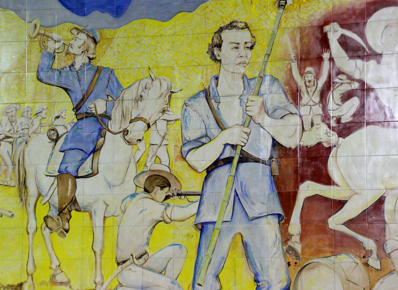 A mural commemorating Juan Santamaria's defeat of the invading army.- Conor