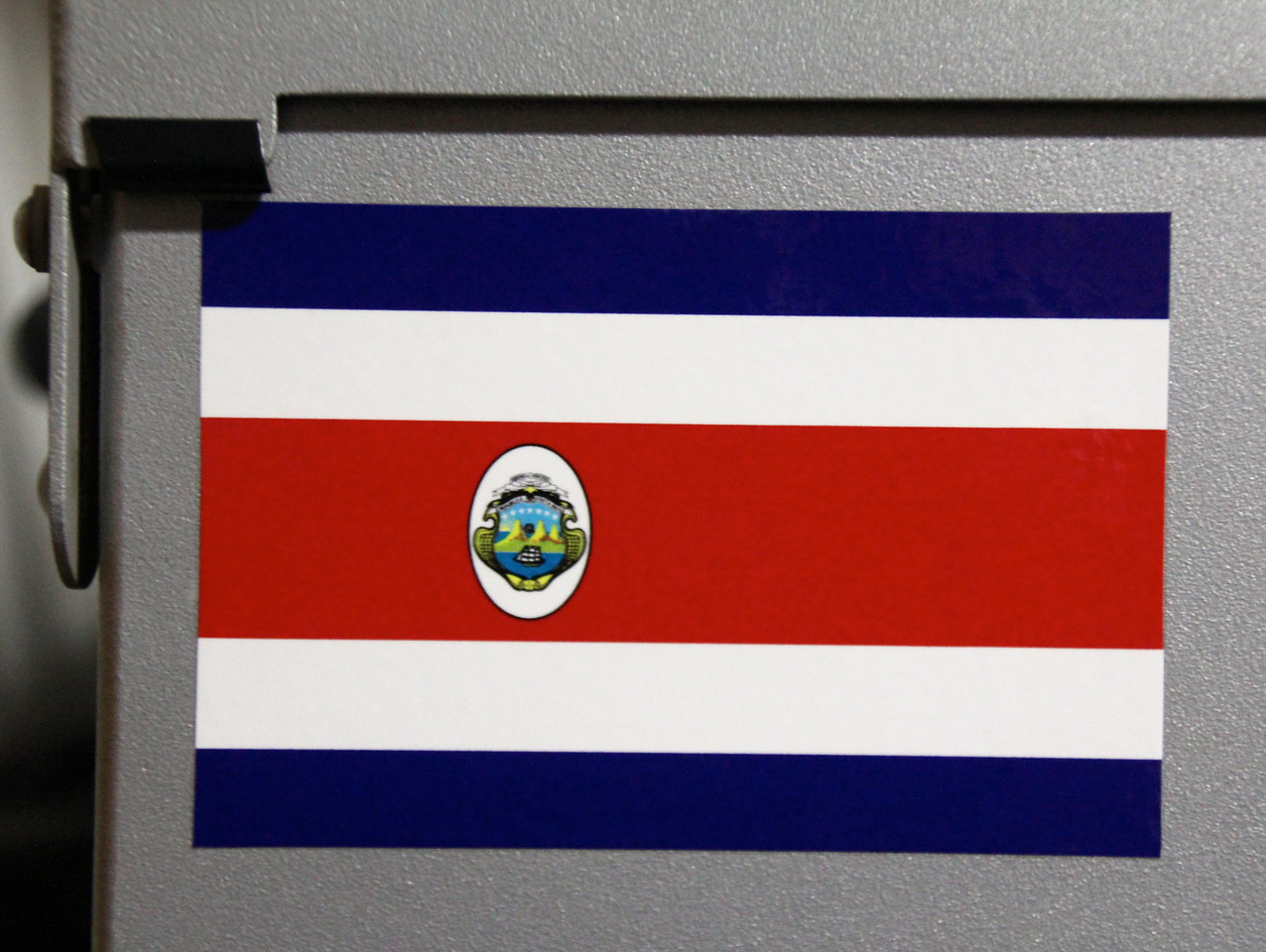 The colors of the flag represent the blue skies. Costa Rica is one of the most environmentally conscious countries we have been in yet. The white represents the purity of the heart of the people (some of the most honest and educated in Central America). The red represents the blood that has been spilt for their homeland.- Conor