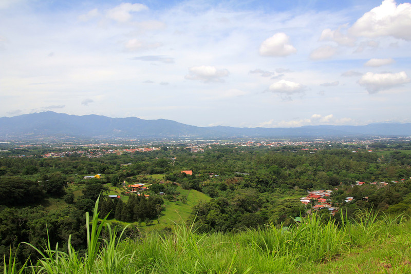 Alajuela is in the central valley and is visible to the right. San José, the capital city, is visible on the left. - Jay