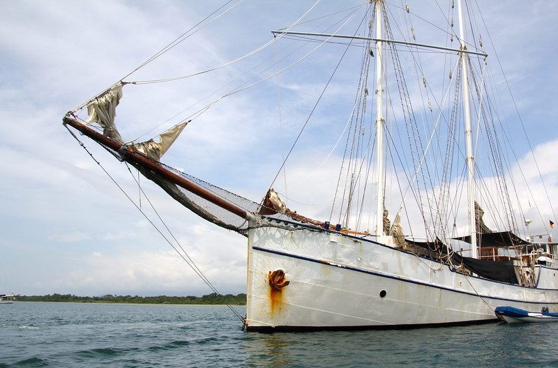 In 2004 the Stahlratte and crew embarked on a voyage from their home port in Germany to circumnavigate the globe. They've been in San Blas, Panama since 2006 spending much of their time ferrying tourists between Panama and Colombia and exploring the beautiful islands of San Blas. - Jay