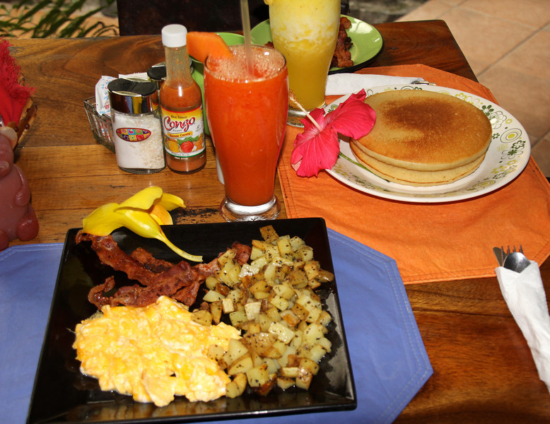 """Fantastic breakfast at a little place named """"Encuentra"""" with really cheap and crazy amazing food. - Conor"""