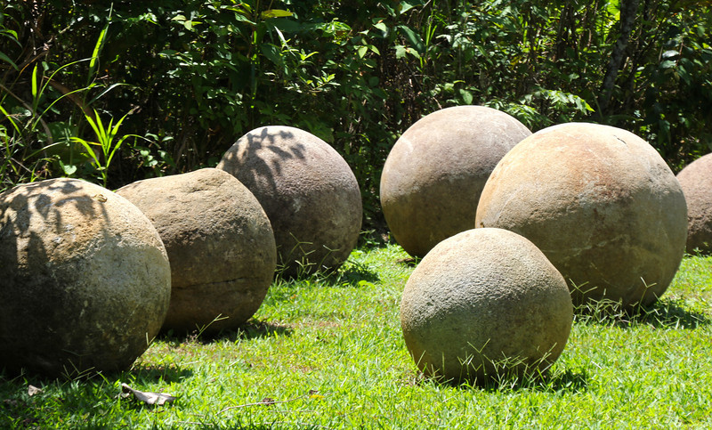 The site dates back to 300-800AD and there still isn't clarity about the meaning of the spheres or their specific alignment.  Several artists, including one that Rodrigo knows personally, have used the spheres as sources of inspiration. - Jay