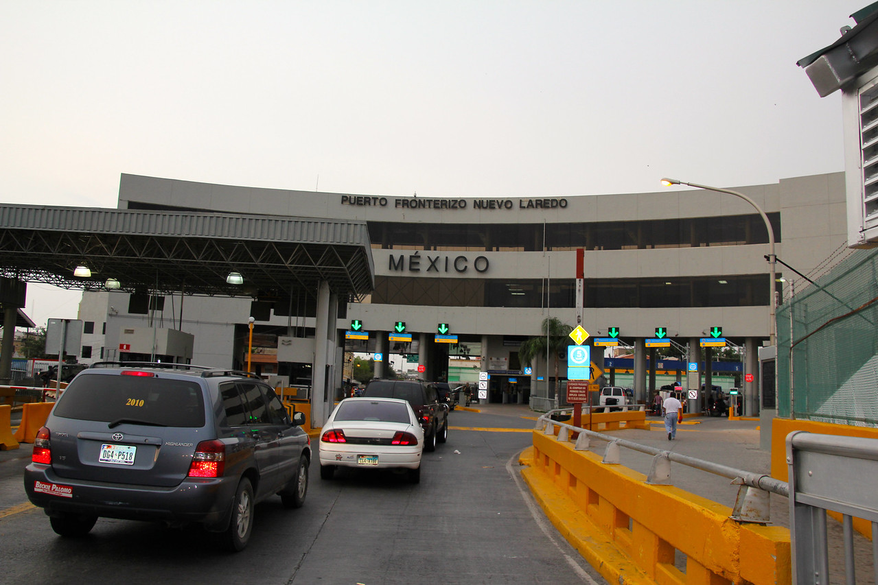 Here is the Mexican border at Laredo. What should have taken about an hour and a half to cross turned into a three-hour affair. Long story short I ended up purchasing my motorcycle from my Dad so I could drive it in the country. So this was a day to remember for me! -Conor