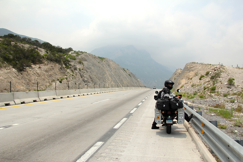 As we approached and skirted Monterrey, the third largest city in Mexico, we began to climb to about 5,000 ft. in elevation. Our riding temps for the day started at 88 degrees in Laredo and dropped to lows of about 74. Although cuotas aren't cheap, they provide a riding surface comparable to anything in the US. The big advantage is that most stretches have about 1/5 the traffic found in the US. After the heavy traffic of I35 between Dallas and San Antonio this was a well come change. Fun fact for the day (thanks cousin Tom) - the Dallas-San Antonio section of freeway is now the busiest in the entire US. - Jay