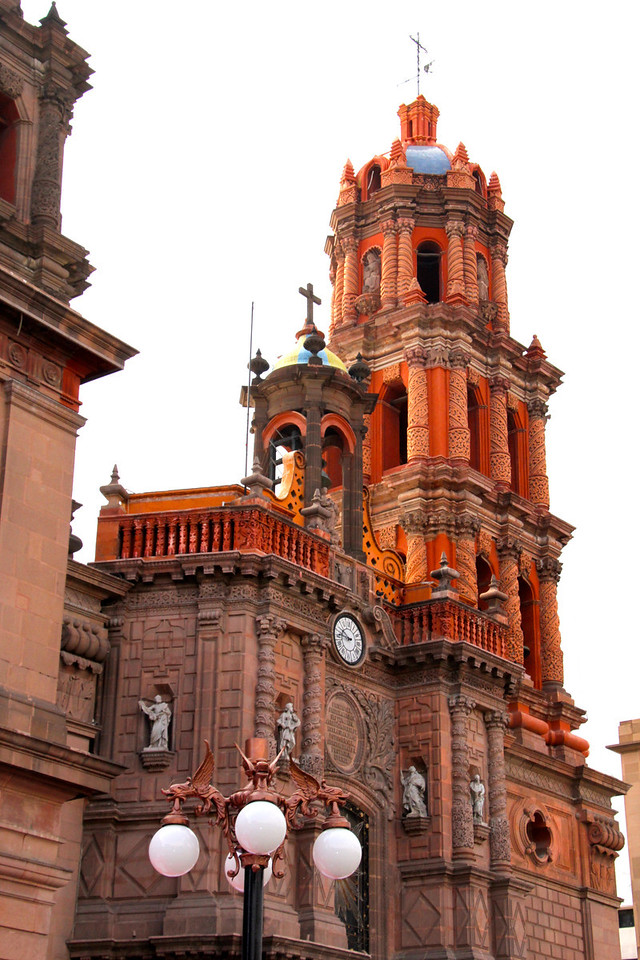 This church was in downtown San Luis Potosi. While we were taking this picture there was a wedding going on and a blood drive happening and the church was the centerpiece of it all, as it has been for hundreds of years.- Conor