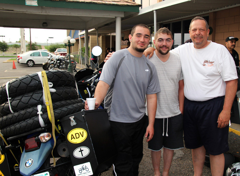 At the beautiful Gateway Inn we bid adieu to Tom and Jesse, from here on out it would be just my Dad and I. I am so thankful that they could go on part of this trip with us. It was great looking at their bikes as much as possible. I know what I am in the market for in a couple years… Don't tell my Dad. - Conor