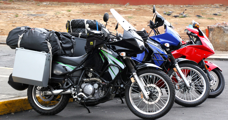 Once we made it to Uruapan we snapped this photo. It was a shorter day, about 180 miles but it included some twisties (sharp corners) which made the ride a lot more fun. Jorge rode a Triumph 1050. Let's just say he led the whole way. - Conor