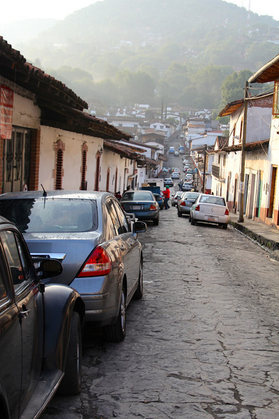 The road in front of our hotel in Valle De Bravo. It was very interesting trying to navigate the one ways on the cobblestone streets. Valle De Bravo is built on a lake that was absolutely gorgeous.-Conor