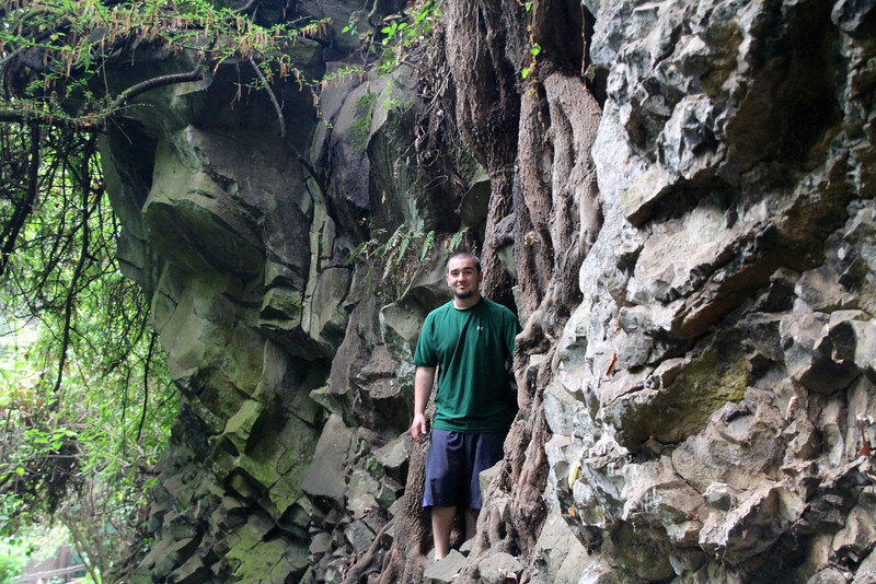 Did some simple rock climbing to get in position for this picture. No serious falls or injuries either. -Conor