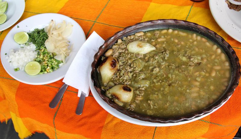 Carne en su jugo (juice) served with fresh warm corn tortillas. Amazing flavor and still one of my favorites. - Jay