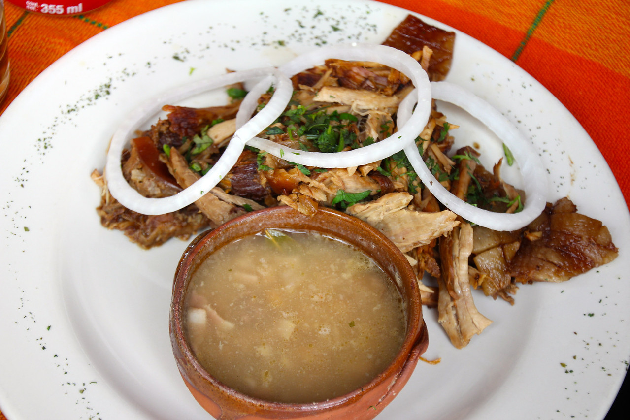 My meal for the day was carnitas with onion and beans. The meal was fantastic and high in protein which kept me going through the 12 hour day. -Conor