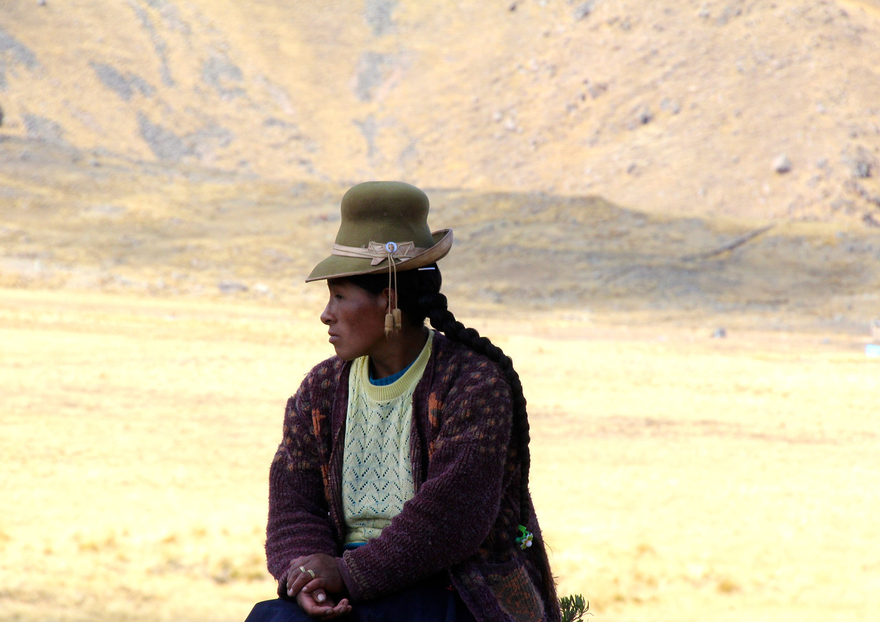 #16 - Bolivian Woman on Altiplano