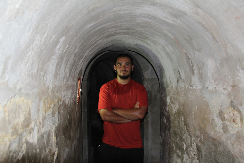 The extensive tunnel system was said to be designed so that soldiers in the tunnels could actually hear approaching footsteps of the enemy. - Jay