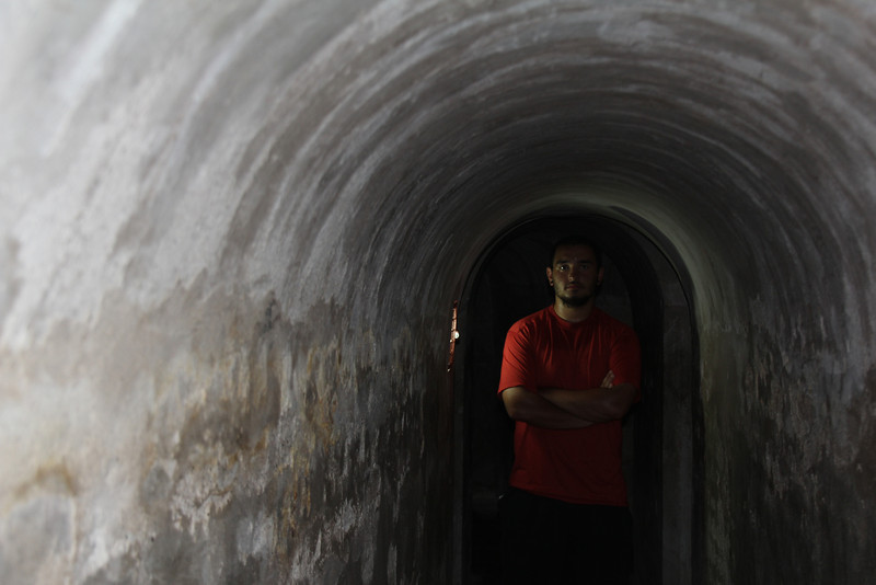 The fort was full of tunnels which Jay and I explored. He grabbed this solid picture.- Conor