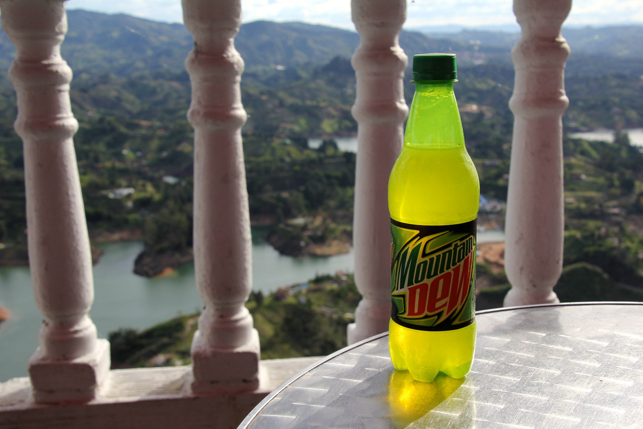 Ahh, this was a tasty treat. Mountain Dew is a rarity in Latin American countries so finding this made both of our days.- Conor