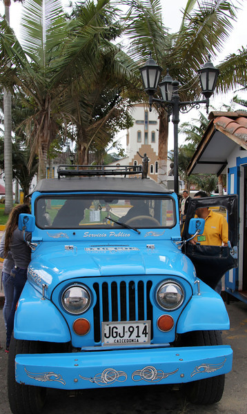 A Willys Jeep commonly used in the area. A local taxi service brought us to the park where later pictures were taken.- Conor