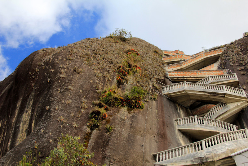 These are the steps we climbed to reach the top viewing area - not too difficult of a climb. - Jay
