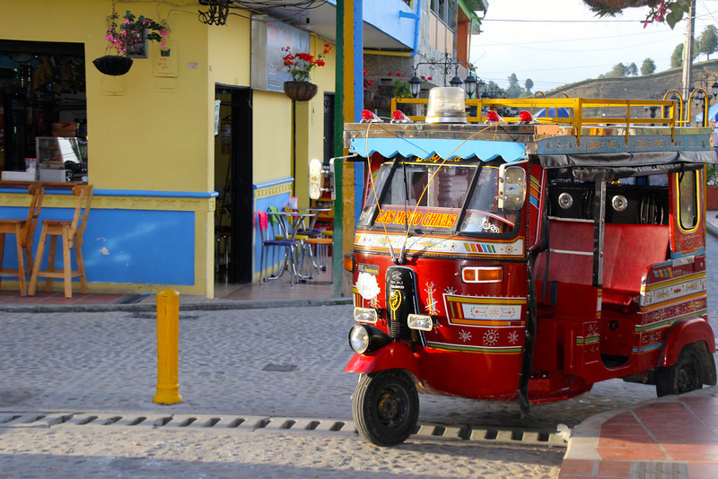 A common form of transportation in  Guatapé.- Jay