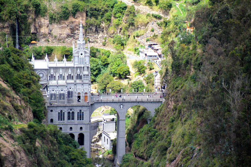 This church is know as the Las Lajas Sanctuary (Santuario de Las Lajas). - Jay