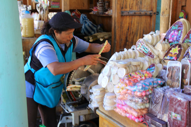 Baños is also famous for making various goodies from sugar cane (grown nearby). - Jay
