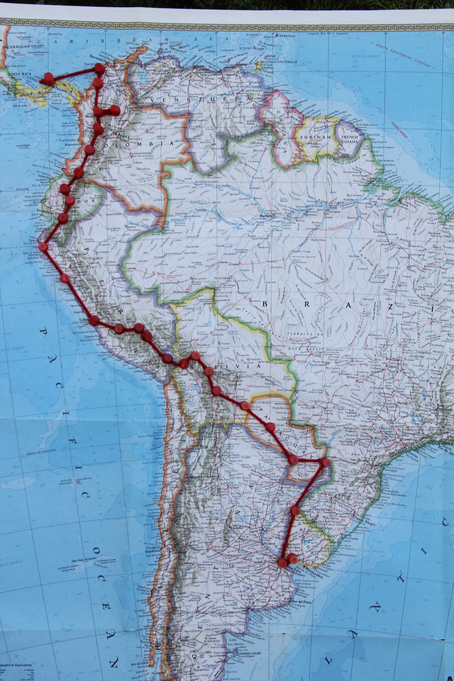 Our route in Peru involved close contact with the ocean for three days and then from Lima we started moving back into the Andes. - Jay
