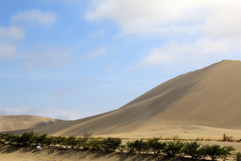 This was one of tallest dunes we encountered - at times we had about a 25 mph crosswind. - Jay