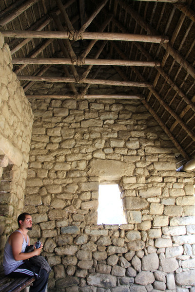 This is a model house that they added a roof to with the stone work being original.- Conor