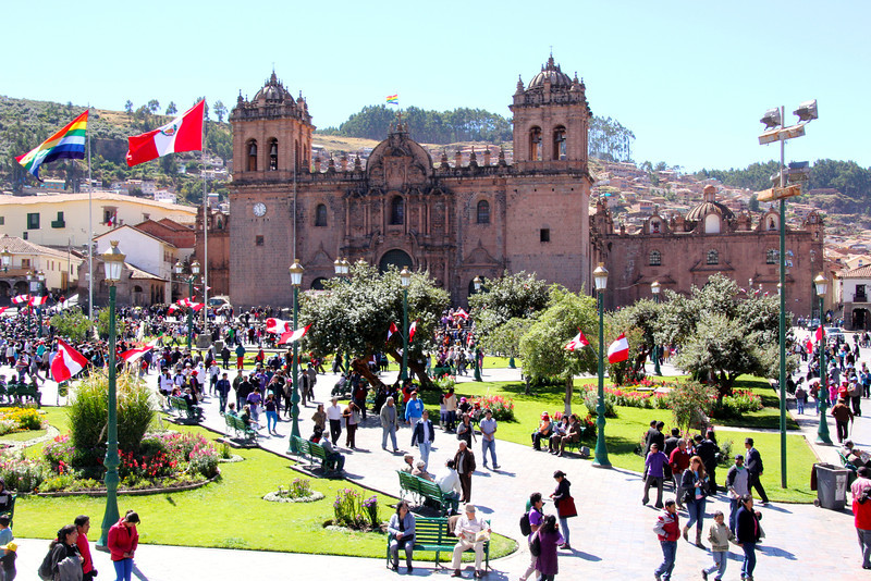 This is the main church of Cusco. It was built by the Spaniards over the top of an Incan Sun Temple. While some of this archeological site was lost, much of it is still around. There was a horrible earthquake in 1950. Much of the colonial Spanish style was destroyed but all remaining Incan walls withstood the shaking.- Conor