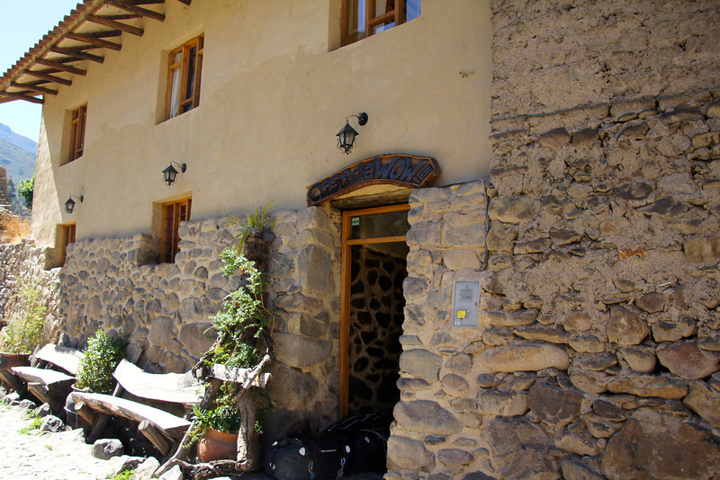 """Casa de Wow"" our Hostal in Ollantatambo. The hostel was located in the actual ruins and the interior was completely constructed by hand by the owner. - Conor"