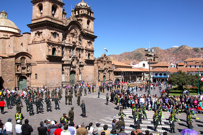 This ceremony was the beginning of the three-week long celebration of Peru's independence from Spain. - Conor