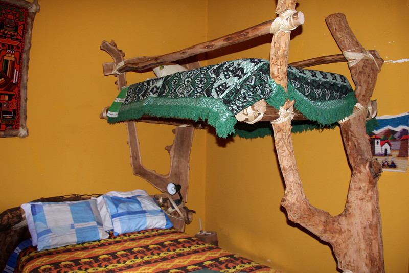 One of the hand-made beds. Wow (the owner, yes his name is Wow) got the wood from his local farm. - Conor