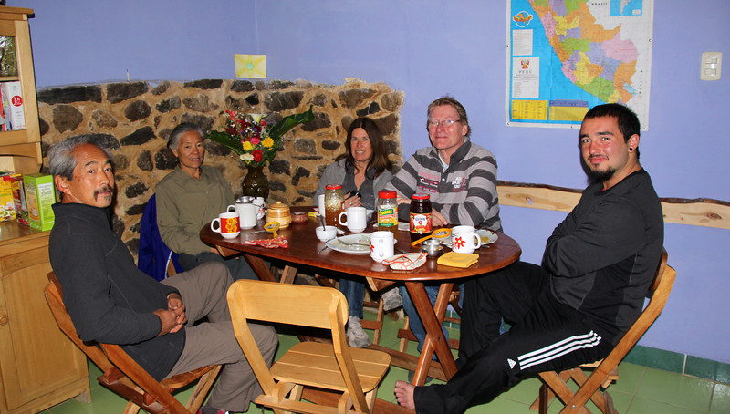 Day 49 started at our hostal with a nice meal of fresh bread and some interesting conversation. One couple was from France and the other from northern California. - Jay