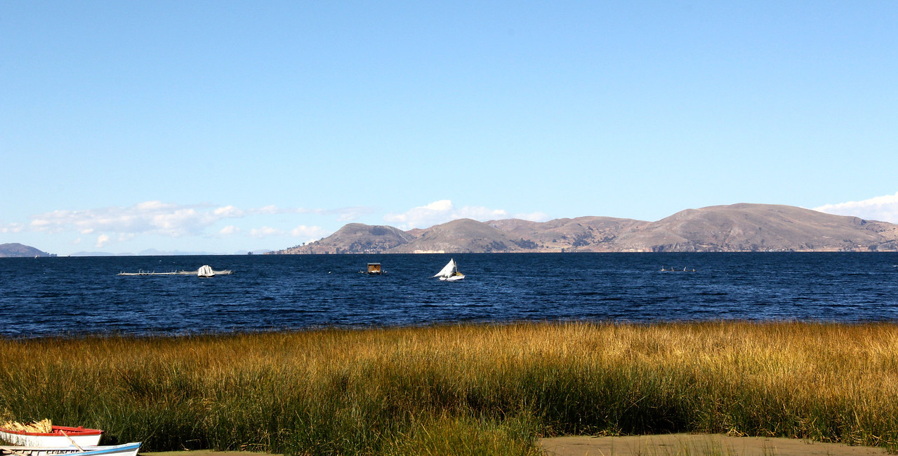 On Day 52 we left Puno and were bound for La Paz, Bolivia. Here is a final shot of Lago Titicaca. - Jay