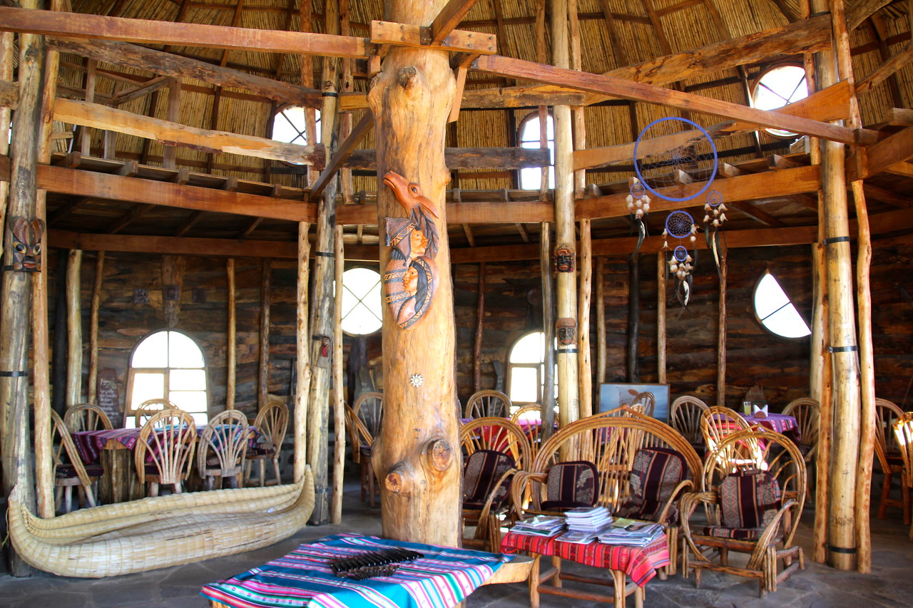 The interior of the main lodge.- Conor