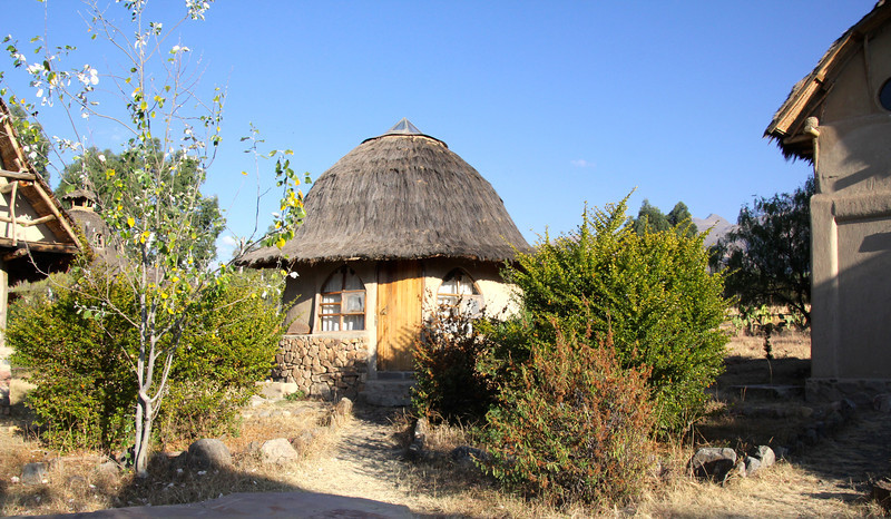 This was the structure we stayed in. I have no idea what is was called so i referred to it as our hobbit house. - Jay