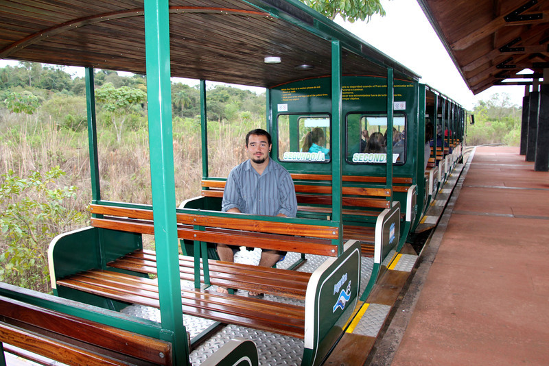The park, and falls area, is really well laid out and trains are used to span some of the longer distances. This was the emptiest this train ever got.- Conor