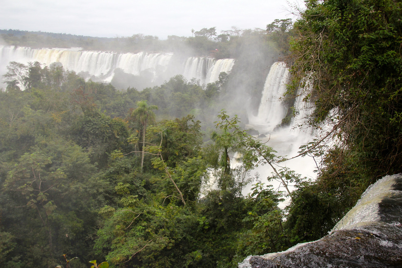 Different paths would lead to upper and lower level viewing areas of the cataratas (waterfalls). - Jay