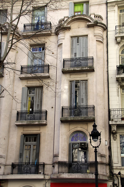 The Hostel Estoril was located on the second floor of this building on the famous Ave. de Mayo right in the heart of Buenos Aires. - Jay