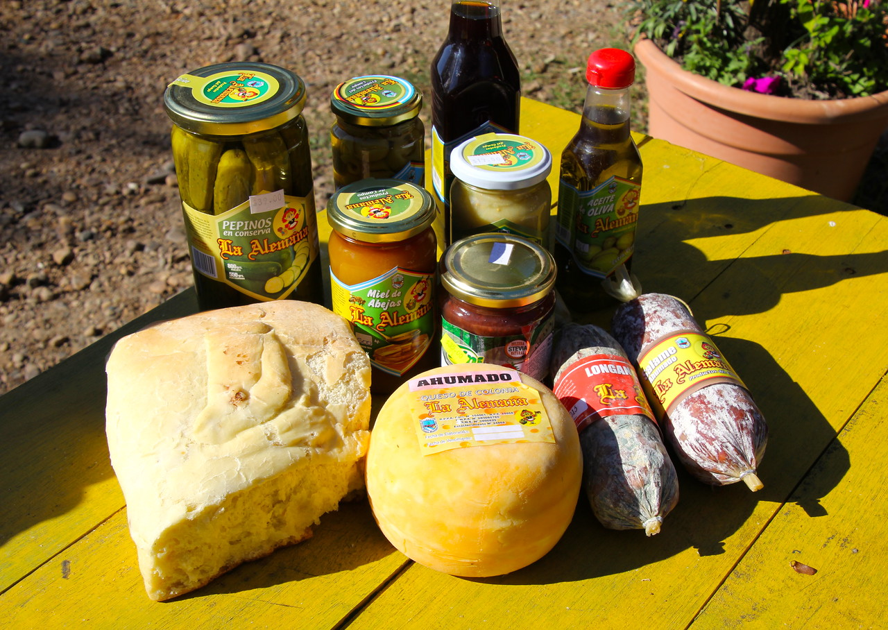 We stocked up for future lunches and sat at this picnic table and feasted in the sunshine. - Jay