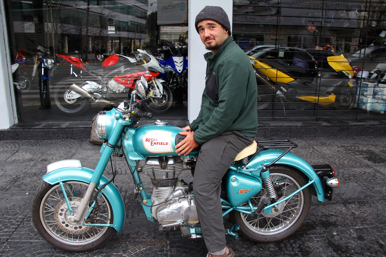 After getting the shipping process started (a multi-day process) we ran across a shop selling Royal Enfields. This is a Royal Enfield Bullet 500. Kind of nice.- Conor