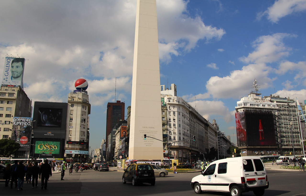 Another view of the famous Obelisco. - Jay