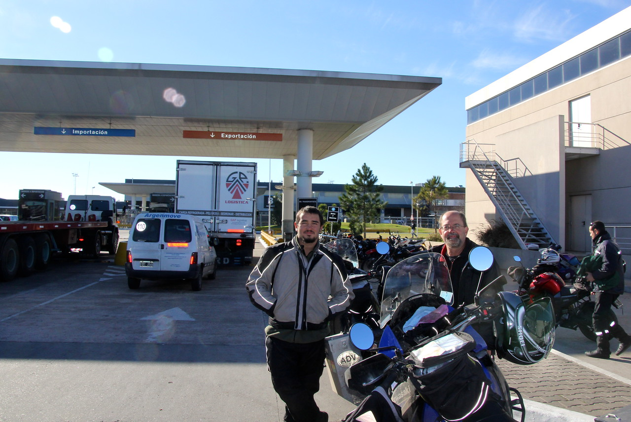 Day 64.  We came to the Buenos Aires Ezeiza International Airport (Cargo Area) to continue the shipment process for our bikes.- Conor